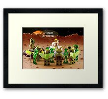 I Come in Pieces! Framed Print