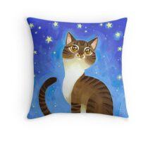 Star Kitty Throw Pillow