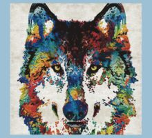 Wolf Art Print - Hungry - By Sharon Cummings Baby Tee