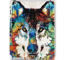 Wolf Art Print - Hungry - By Sharon Cummings iPad Case/Skin