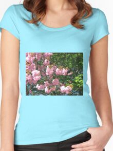 Laden with Blossoms Women's Fitted Scoop T-Shirt