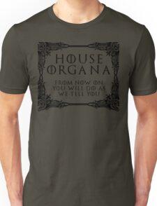 House Organa (black text) Unisex T-Shirt