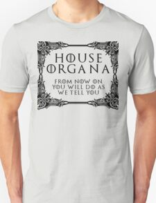 House Organa (black text) Unisex T-Shirt
