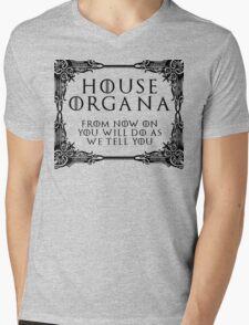 House Organa (black text) Mens V-Neck T-Shirt