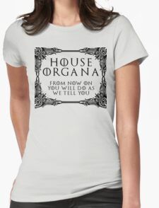 House Organa (black text) Womens Fitted T-Shirt