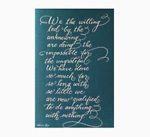 Handwritten quote We the Willing Unisex T-Shirt