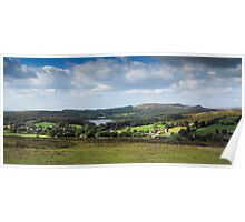 Dartmoor: Sheepstor Village, Burrator Reservoir, Devon UK. Poster