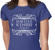 House Kenobi (white text) Womens Fitted T-Shirt