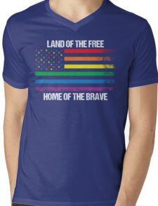 Land Of The Free, Home Of The Brave Mens V-Neck T-Shirt