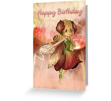 Strawberry And Cream - Birthday Card With Fairy Greeting Card