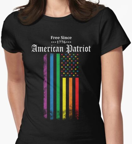 Free Since 1776 - American Patriot Womens Fitted T-Shirt