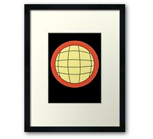 Planeteer -  fire - Wheeler T-Shirt! Framed Print