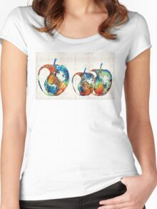 Colorful Apples by Sharon Cummings Women's Fitted Scoop T-Shirt