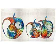 Colorful Apples by Sharon Cummings Poster