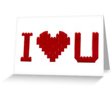 I love U Greeting Card