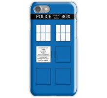 Police Box iPhone Case/Skin