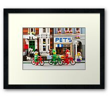 Santa in the City Framed Print