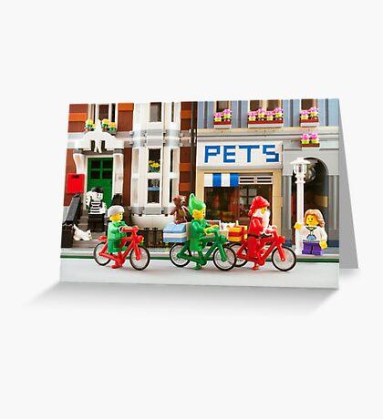 Santa in the City Greeting Card