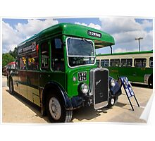 Green towing bus Poster
