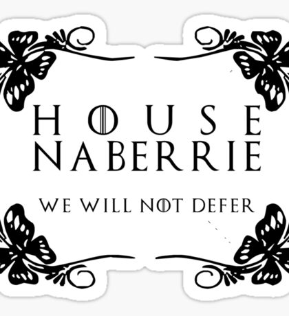 House Naberrie (black text) Sticker