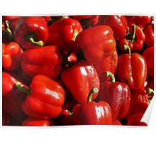Food - red bell peppers Poster