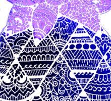 Pineapple: Purple/Blue/White Sticker