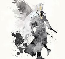 Final Fantasy 7 - Sephiroth Art Print by paperheroes