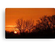 Orange Winter Sunrise - Chelmsford, UK Canvas Print