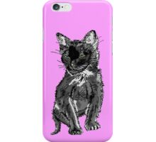 Saphira the cat Pixel sketch iPhone Case/Skin