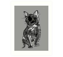 Saphira the cat Pixel sketch Art Print