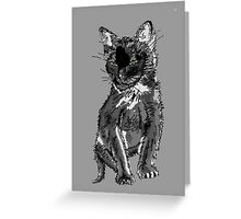 Saphira the cat Pixel sketch Greeting Card