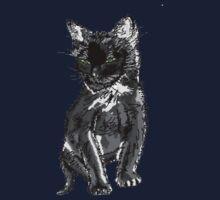 Saphira the cat Pixel sketch One Piece - Short Sleeve