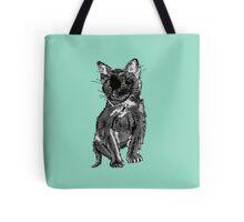 Saphira the cat Pixel sketch Tote Bag