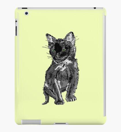 Saphira the cat Pixel sketch iPad Case/Skin