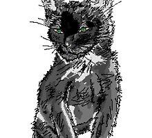 Saphira the cat Pixel sketch by Enji333
