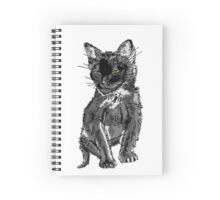 Saphira the cat Pixel sketch Spiral Notebook