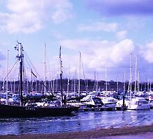 Busy Harbour in Blue - Burnham-On-Crouch by MichelleRees