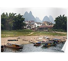 On the Banks of the Li River  Poster