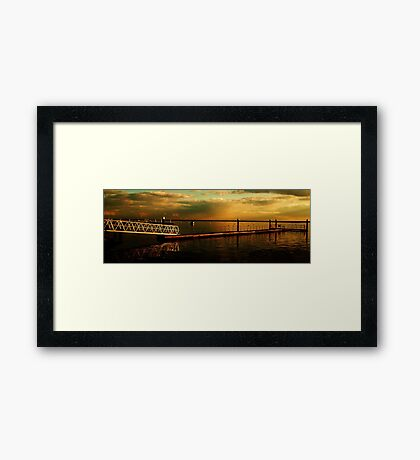 Dark Sunset Clouds over The River Crouch Framed Print
