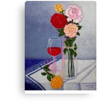 Still life with roses Canvas Print