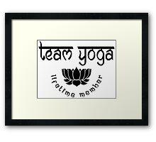 Team Yoga Lifetime Member design Framed Print