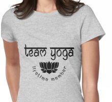 Team Yoga Lifetime Member design Womens Fitted T-Shirt