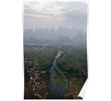 Li River from a Balloon Poster