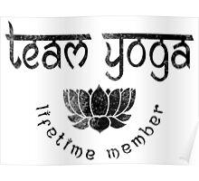 Vintage Team Yoga Lifetime Member design Poster
