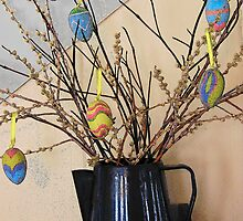Pussy Willows and Easter Eggs by © Betty E Duncan ~ Blue Mountain Blessings Photography