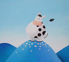 Cow in the wind by Koekelijn