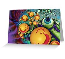 Goofy Smileys Greeting Card