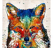 Colorful Fox Art - Foxi - By Sharon Cummings Photographic Print