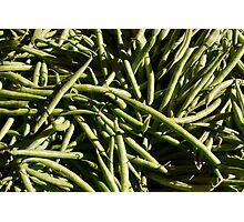 Food - green beans Photographic Print