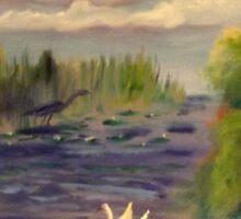 Crosswinds Marsh in the Summer Sticker